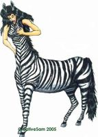 Zebra Taur Transformation by creativesam