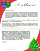 Christmas Letterhead Template by danbradster