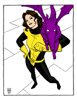 Kitty Pryde by Cliff Chiang by captainbananamuffin