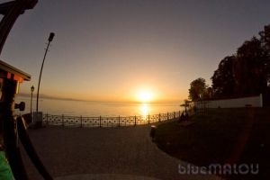 Autumn Sunset Fish Eye by blueMALOU