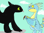 Toothless X Stormfly~Request for Ray-Ken by XxLunaWarriorxX