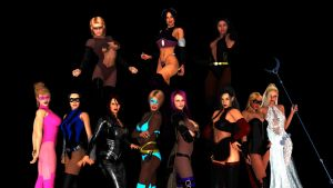 The Heroines of E18 test render by Dimples-Bratt