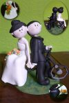 Bicycle wedding topper by elaetinuviel