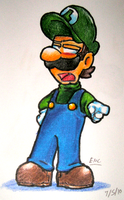 Luigi's Pointing at You by Alex-Wolfy