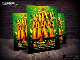 St Patricks Day Party Flyer Template PSD by Industrykidz