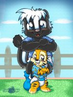 Skunk n Munk by Tavi-Munk