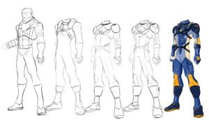 Evolution of a Pilot Suit by YulayDevlet