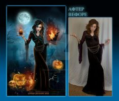 Halloween before after by MiloshJevremovic