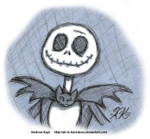 Sketch - Jack Skellington by AK-Is-Harmless