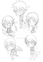 5 Experiments Sketches by SpiralNinja05