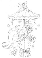 Mummy Carousel Pony ::Commission - Sketch:: by YamPuff