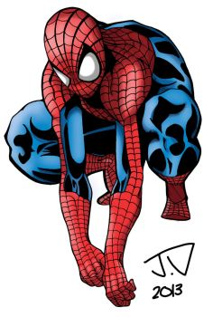 Crouching Spidey by CookArt456