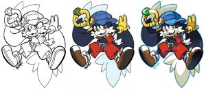 Inks to Colors - Klonoa by herms85
