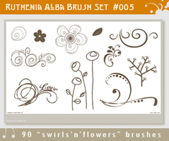 Brushset 05: Swirl'n'Flowers by Ruthenia-Alba
