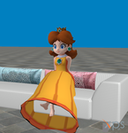 Daisy On Couch by 3DFootFan