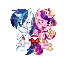 cadence and shining armor by Asamy753
