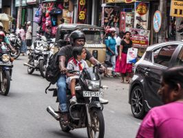 Motorbikes and kids. by jennystokes