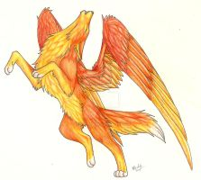 Phoenix Wolf by CaptainMorwen