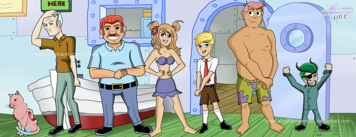 SpongeBob SquarePants Characters Humanized by AllyPhantomRush