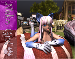 Neko Girl 01 - Second Life by Jace-Lethecus