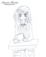 Sawa On Her Desk by SweetMonia