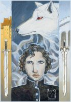 Jon Snow by dragonladych