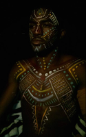 African Tribe Body Paint by captainsarasparrow