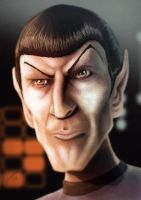 Spock Caricature by Juggertha