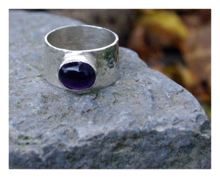 Bashed Amethyst Ring by MoonSelkie