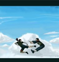 Shikamaru vs. Genma by silver80