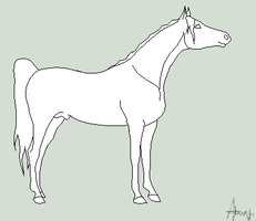 MS paint horse line art by horsecrazy2010