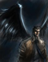 The angel Castiel by devowankenobi