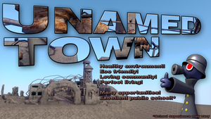 Unamed Town promo flyer by surrealdeamer