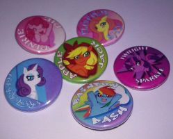 My Pony Buttons Finished by michielynn
