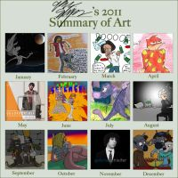 Gabe Schleifer's 2011 Art Summery by NWolfman