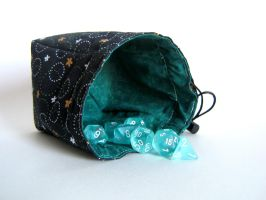 Black and Green Floral Die Bag by mousch