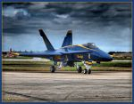 Blue Angel 3 Under Moody Skies by Dracoart
