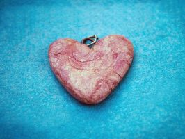 Marbled Heart Charm by clarearies13