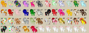 Massive Pony theme adopts part 1/4 (Open 14/41) by KnifeofBloodyTears