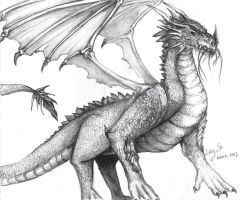 Sketching a dragon by LuriaRez