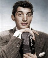 NBC Mic Dean Martin Colorized by ajax1946
