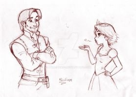 Tangled Sketch by AnimeFanS2