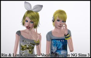 Len and Rin Sims Download by ng9