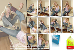 Catfight in jeans -Image set 69 pics- $ 4.50 by MartaModel