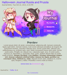 Russia and Prussia Halloween Journal Code by TaNa-Jo