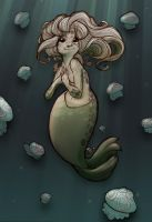 Selkie Midnight Moonlight by StressedJenny