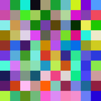 A 10x10 Grid of Random Colours by CatFaceBunyyAwesome