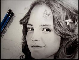 Road to Realism : Emma Watson WIP2 by Iza-nagi