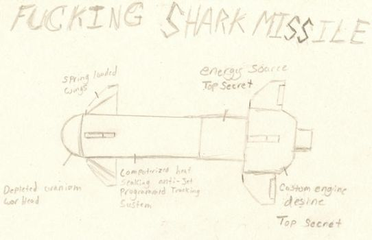 FUCKING SHARK MISSILE by fiern