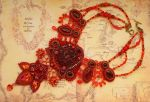 Song of Fire - Embroidered Necklace by Callista1981